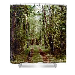 Road To Anywhere Shower Curtain by Bob Senesac