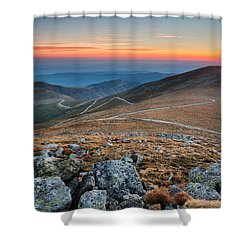 Road To Sunrise Shower Curtain by Evgeni Dinev