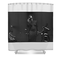 Roberta Sweed Shower Curtain by Dragan Kudjerski