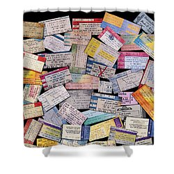 Rock And Roll Memories Shower Curtain by Stephen Anderson