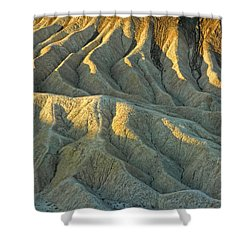 Rock Formations At Death Valley Shower Curtain by Dave Mills