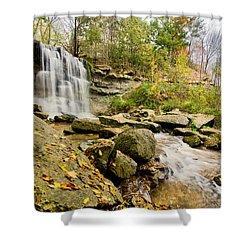 Rock Glen Falls Shower Curtain by Cale Best