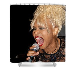 Rock Star Baby Jean Kennedy Of Mother's Finest Shower Curtain by Benanne Stiens