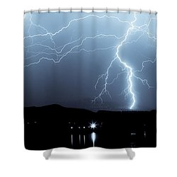 Rocky Mountain Storm  Shower Curtain by James BO  Insogna