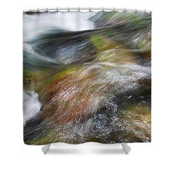 Rocky Riverbed Shower Curtain by Jenna Szerlag