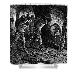Roman Slavery: Coal Mine Shower Curtain by Granger
