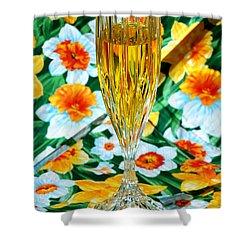 Romantic Gold Shower Curtain by LeeAnn McLaneGoetz McLaneGoetzStudioLLCcom