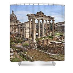 Rome Forum Romanum Shower Curtain by Joana Kruse