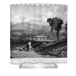 Rome: Milvian Bridge, 1833 Shower Curtain by Granger