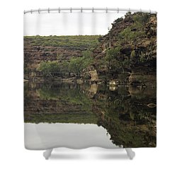 Ross Graham Gorge Shower Curtain by Robert Caddy