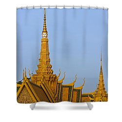 Royal Palace Roof. Shower Curtain by David Freuthal