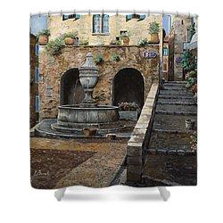 Rue Du Bresc A St Paul De Vence Shower Curtain by Guido Borelli