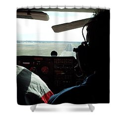 Runway 10 Dallas Area Shower Curtain by Thomas Woolworth