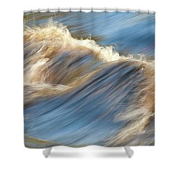 Rushing Waters Shower Curtain by Carolyn Marshall