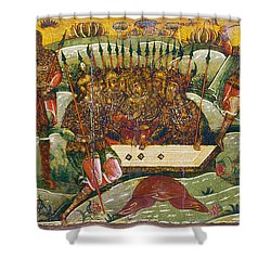 Russian Icon: Dice Players Shower Curtain by Granger