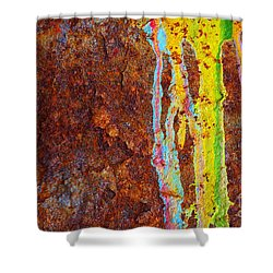 Rust Background Shower Curtain by Carlos Caetano