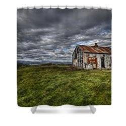 Rust In Peace Shower Curtain by Evelina Kremsdorf