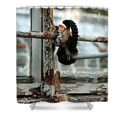 Rust Shower Curtain by Maglioli Studios