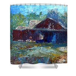 Rustic Barn Shower Curtain by Claire Bull