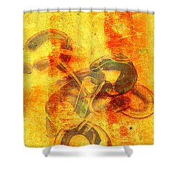 Rustic Gold Shower Curtain by Andee Design