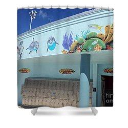 Sailfish Splash Park 4 Shower Curtain by Carey Chen