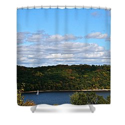 Sailing Summer Away Shower Curtain by Susan Herber