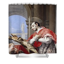 Saint Charles Borromeo Shower Curtain by Giovanni Battista Tiepolo