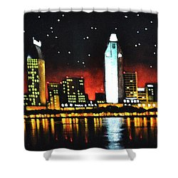 San Diago Shower Curtain by Thomas Kolendra