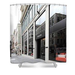 San Francisco - Maiden Lane - Prada Italian Fashion Store - 5d17800 Shower Curtain by Wingsdomain Art and Photography