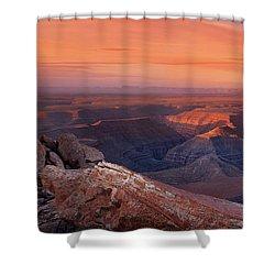 San Juan River Light Shower Curtain by Leland D Howard