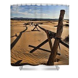 Sand Shower Curtain by Heather Applegate