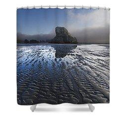 Sand Sculptures Shower Curtain by Debra and Dave Vanderlaan