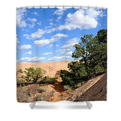 Sandstone Sky Shower Curtain by Gary Whitton