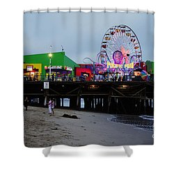 Santa Monica Pier May 12 2012 Shower Curtain by Clayton Bruster
