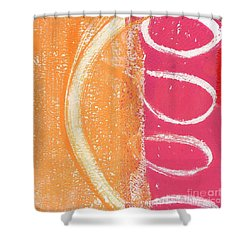 Sante Fe Sunrise Shower Curtain by Linda Woods