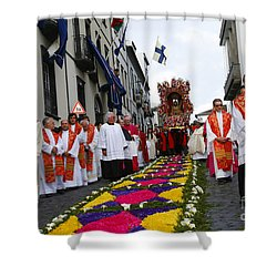 Santo Cristo Dos Milagres Shower Curtain by Gaspar Avila