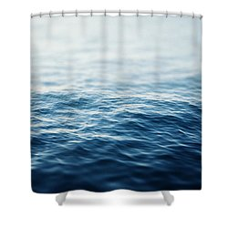 Sapphire Waters Shower Curtain by Lisa Russo
