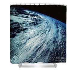 Satellite Images Of Storm Patterns Shower Curtain by Stocktrek Images