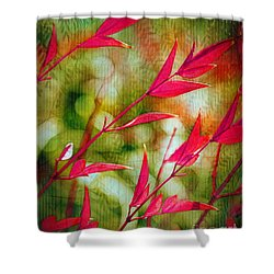 Scarlet Shower Curtain by Judi Bagwell