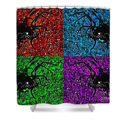 Scary Spider Serigraph Shower Curtain by Al Powell Photography USA