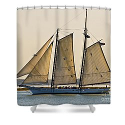 Scenic Schooner Shower Curtain by Al Powell Photography USA