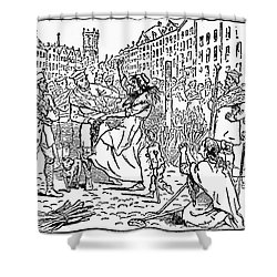 Scotland: Witch Burning Shower Curtain by Granger