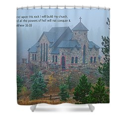 Scripture And Picture Matthew 16 18 Shower Curtain by Ken Smith