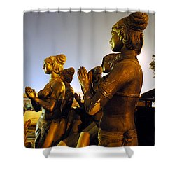 Sculpture Of Women Shower Curtain by Sumit Mehndiratta