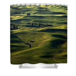 Sea Of Green Shower Curtain by Mike  Dawson