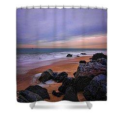 Seascape Shower Curtain by Paul Ward