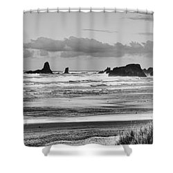 Seaside By The Ocean Shower Curtain by James Heckt