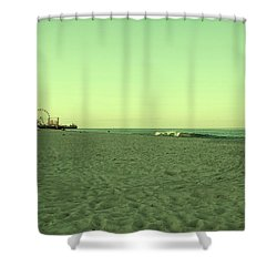 Seaside Park II - Jersey Shore Shower Curtain by Angie Tirado