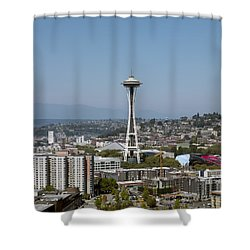 Seattle: Cityscape, 2009 Shower Curtain by Granger