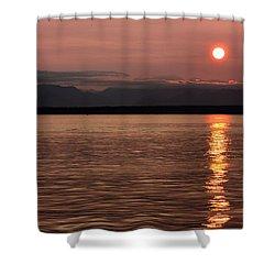 Seattle Sunset Shower Curtain by Kristin Elmquist